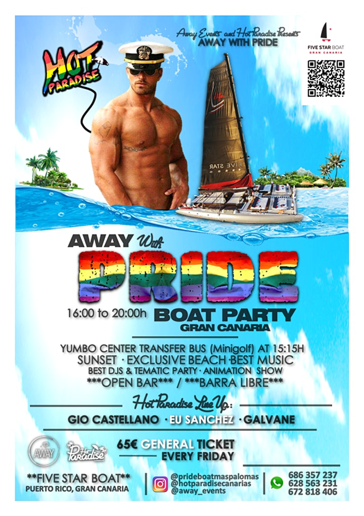 AWAY with PRIDE boat party image