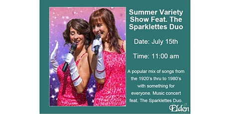 Senior's FREE Virtual Event - Summer Variety Show Feat. The Sparklettes Duo tickets