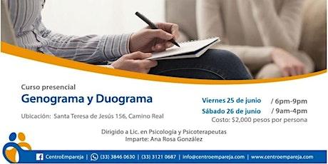 Curso: Genograma y Duograma para terapeutas. boletos