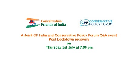 A Joint CF India and CPF   Q&A event - Post Lockdown recovery tickets