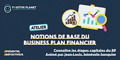 Atelier Notions de base du business plan financier billets
