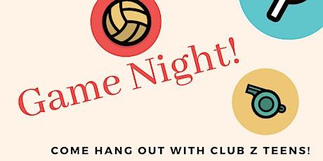 Club Z Charlotte Game Night! tickets