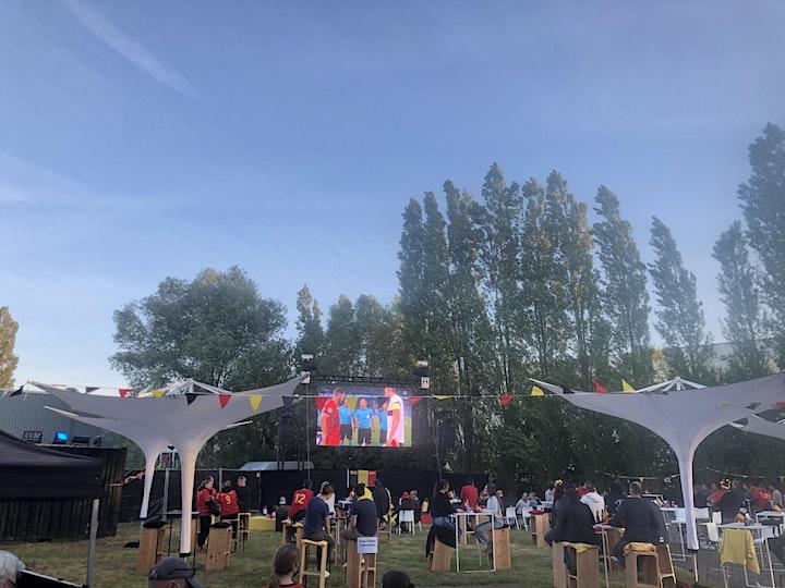 """EK voetbal 1/8 finale  België - Portugal  groot scherm """" The Garden"""" image"""