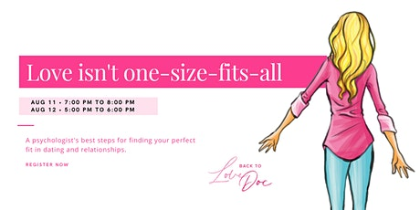 Free Webinar: Love isn't one-size-fits-all tickets