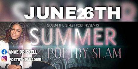 2021 SUMMER POETRY SLAM tickets