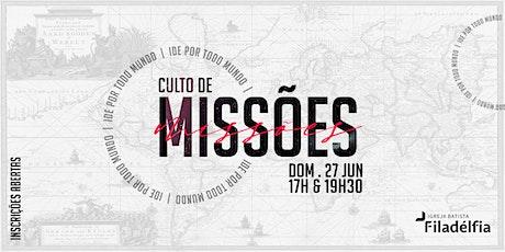 CULTOS DE CELEBRAÇÃO FILADÉLFIA   27/06/21   17H E 19H30 ingressos