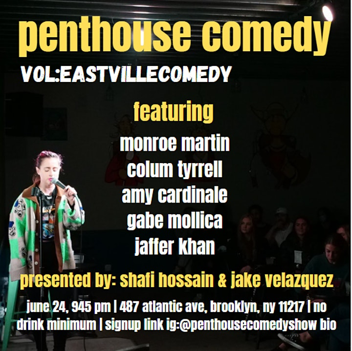 Penthouse Comedy At Eastville Comedy Club image