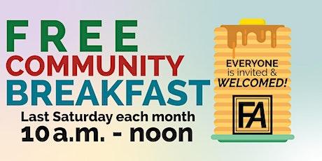 FREE Community Breakfast tickets