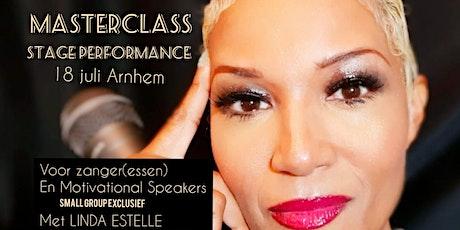 Masterclass Stage Performance van Linda Estelle tickets