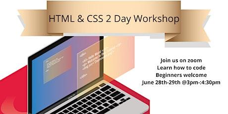 HTML & CSS 2 Day Workshop billets