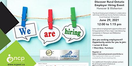Employer Hiring Event - Hanover & Walkerton, Ontario tickets