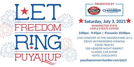 Let Freedom Ring! Puyallup's 3rd of July Celebration tickets