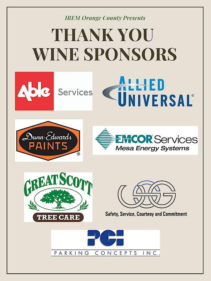 IREM Orange County Annual Wine Event image