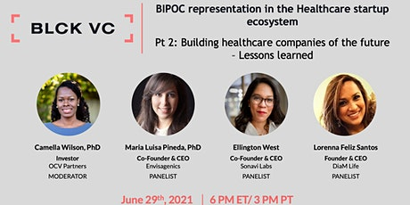 BIPOC representation in the Healthcare startup ecosystem Pt 2 tickets