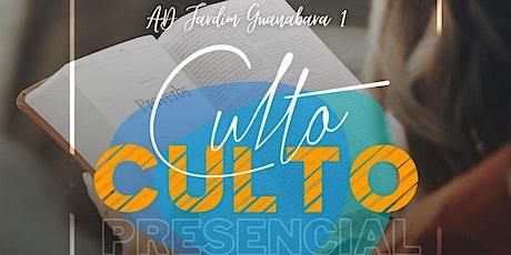Culto de Celebração AD Jardim Guanabara 1- Domingo Noite - 18h ingressos
