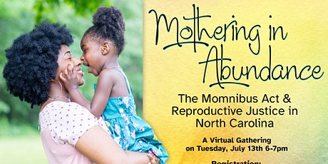 Mothering in Abundance: The Momnibus Act & Reproductive Justice in NC tickets