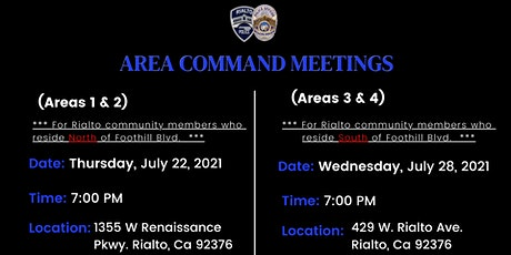 Area Command Meetings (July 22 & July 28) tickets