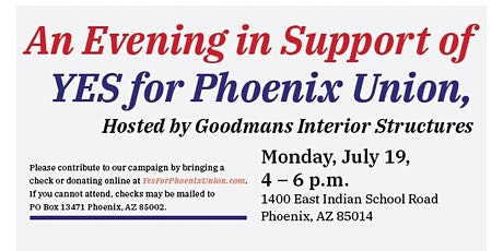 An Evening In Support of Yes for Phoenix Union tickets