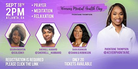 WOMEN'S MENTAL HEALTH DAY 2021 tickets