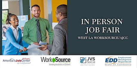 West LA Worksource/AJCC Job Fair Employer Registration tickets