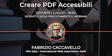 Creare PDF Accessibili biglietti