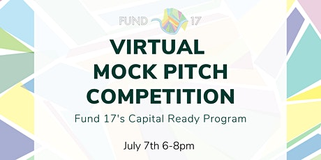 Capital Ready 2021 Virtual Mock Pitch Competition tickets