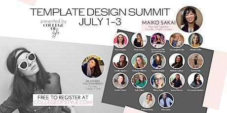 Template Design Summit biglietti