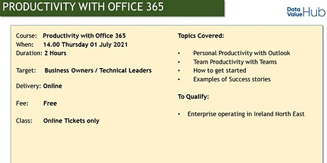 Productivity with Office 365 tickets