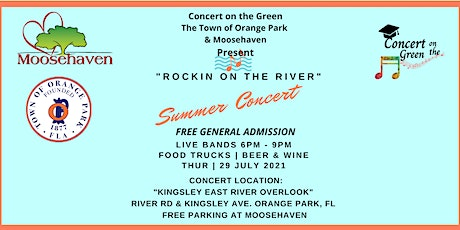 """FREE CONCERT """"Rockin on the River"""" July 29th Free General Admission Tickets tickets"""
