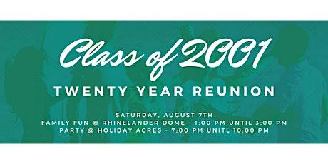 Class of 2001 Rhinelander High School Reunion tickets