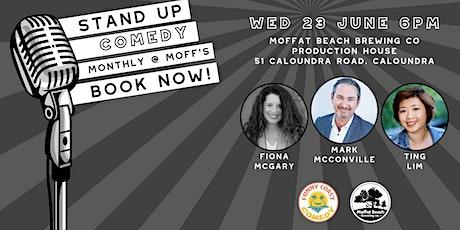 Funny Coast Comedy @ Moffat Beach Brewing Co: Mark McConville & Friends tickets