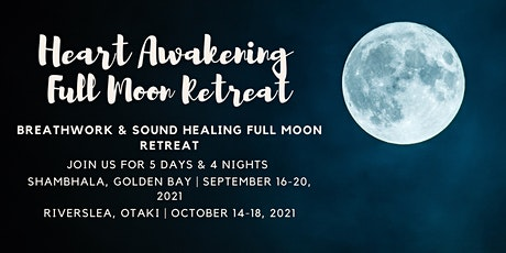 5 Day Breathwork & Sound Healing Full Moon Retreat, Otaki tickets
