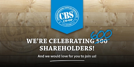 Combined Building Supplies Cooperative 500 Shareholders Celebration tickets