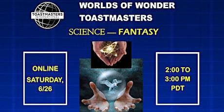 Worlds of Wonder Toastmasters tickets