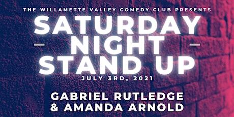 Saturday Night Stand Up w/ Gabriel Rutledge & Amanda Arnold tickets