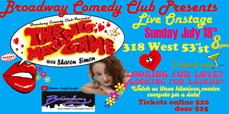 Broadway Comedy Club Presents The Mating Game! tickets