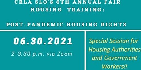 2021 Fair Housing Training: For Housing Authorities & Government Workers tickets
