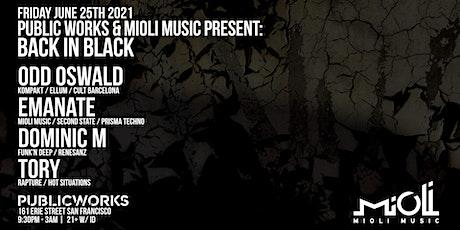 Mioli Music presents: Back In Black w/ Odd Oswald, Emanate, + more tickets