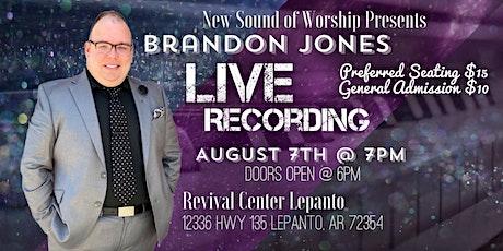 Brandon Jones Live Recording tickets