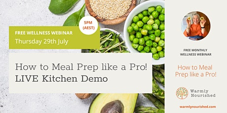 Meal Prep like a Pro – LIVE kitchen demo tickets