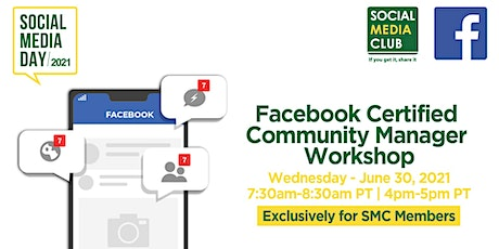 Facebook Certified Community Manager Workshop + Scholarship tickets