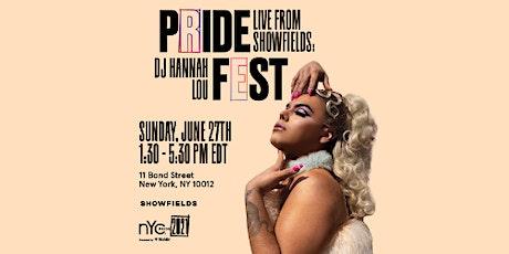 Live From Showfields: DJ Hannah Lou boletos