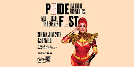 Live From Showfields: Meet & Greet with Tina Burner boletos