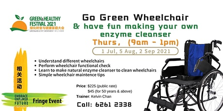 Go Green Wheelchair and have fun making your own enzyme cleanser! tickets