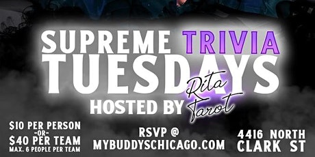 Tuesday Night Supreme Trivia at My Buddy's tickets