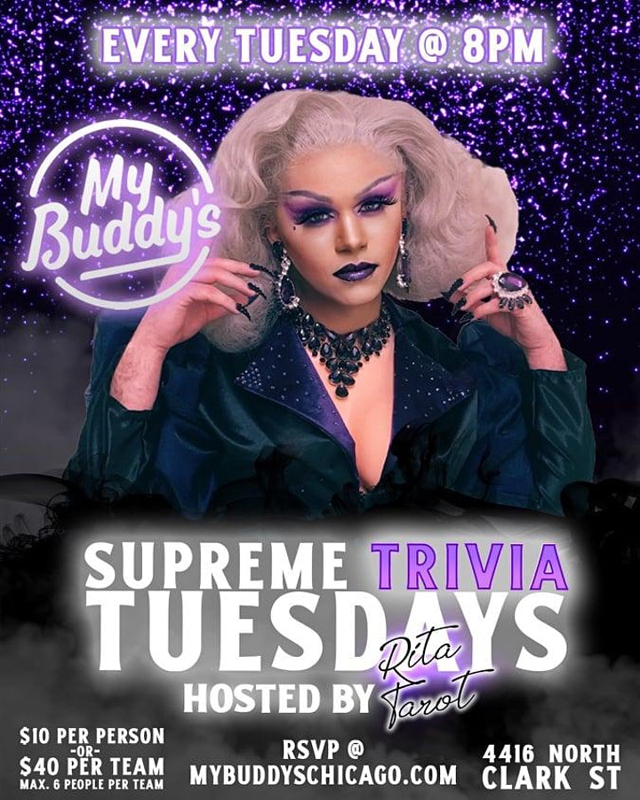 Tuesday Night Supreme Trivia at My Buddy's image