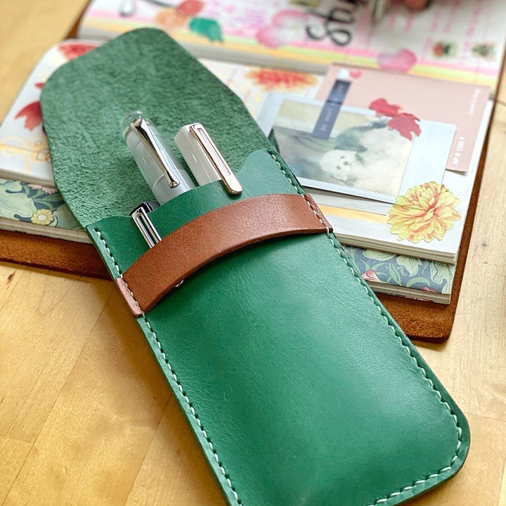 Leather Pen Pouch Making Workshop image