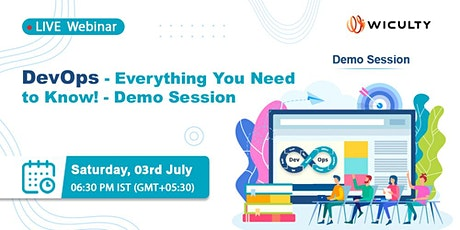 DevOps - Everything You Need to Know! - Demo Session   Live Webinar tickets