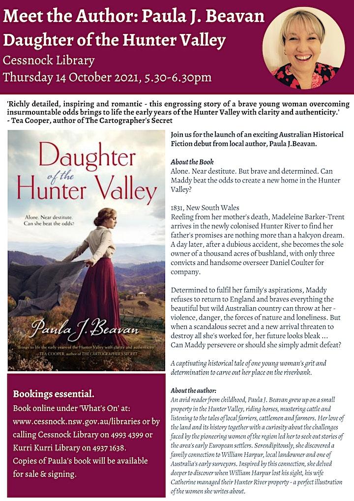 Meet the Author: Paula J. Beavan - Daughter of the Hunter Valley image