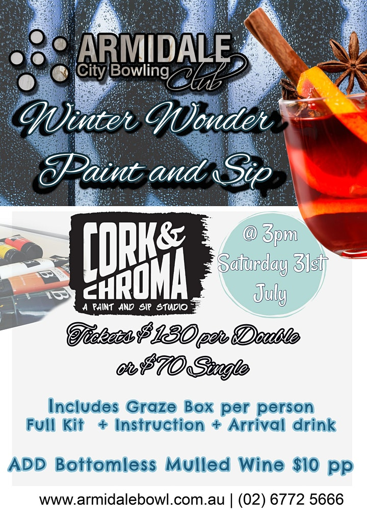 Winter Wonder  Paint and Sip by Cork and Chroma image